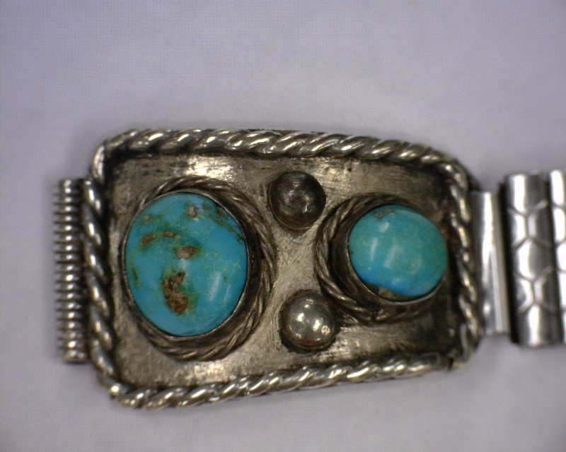 Synthetic Turquoise Silver-Stone Misc. 925 Silver 30.13dwt