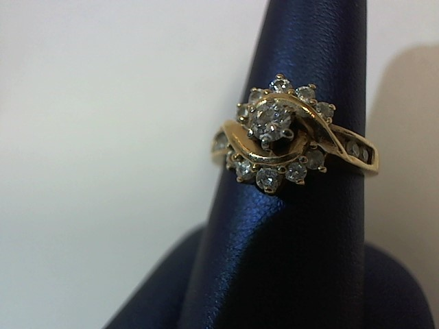 Lady's Diamond Fashion Ring 17 Diamonds .49 Carat T.W. 14K Yellow Gold 4.5g