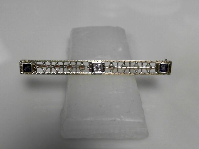 Vintage Diamond Brooch .03 CT. 562 Yellow Gold 3.26g
