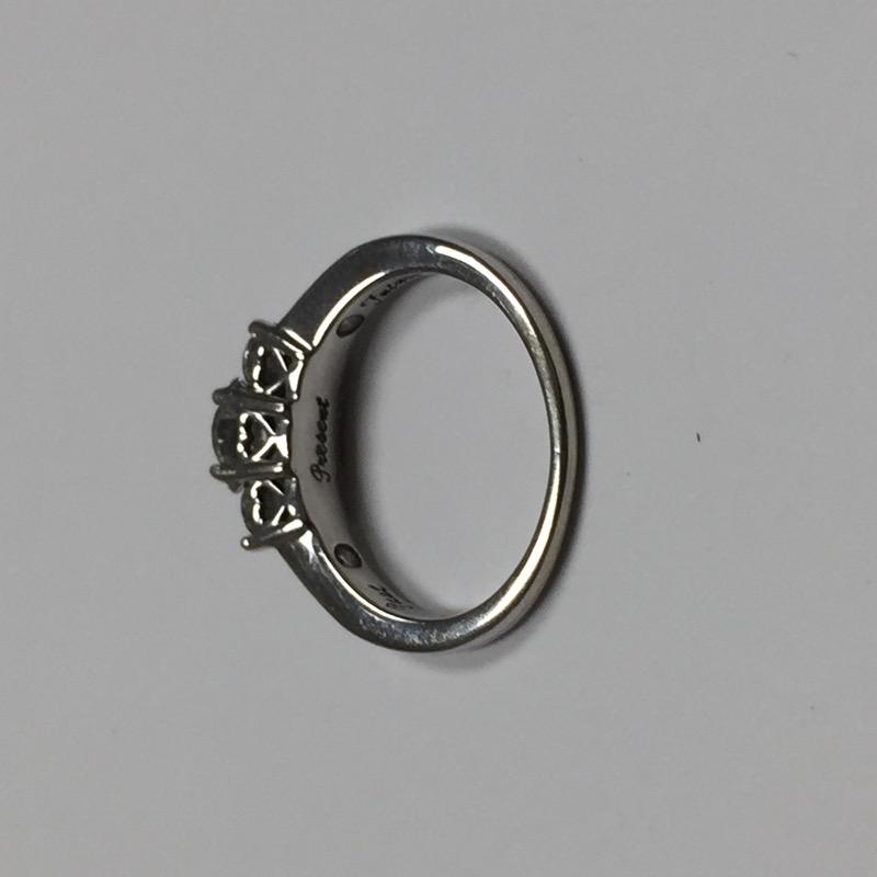 Lady's Diamond Engagement Ring 9 Diamonds .95 Carat T.W. 14K White Gold 2dwt