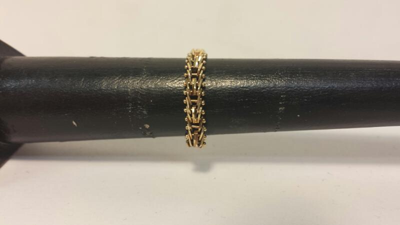 14k Yellow Gold Link Ring 1.7dwt - Size 9