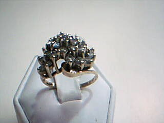 Lady's Diamond Cluster Ring 25 Diamonds 1.75 Carat T.W. 14K Yellow Gold 6.3g