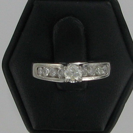 Lady's Platinum Diamond Fashion 10 Diamonds .85 Carat T.W. 950 Platinum 5.85dwt