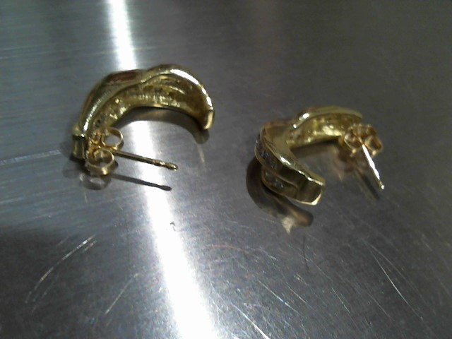 Gold Earrings 18K Yellow Gold 8.7g