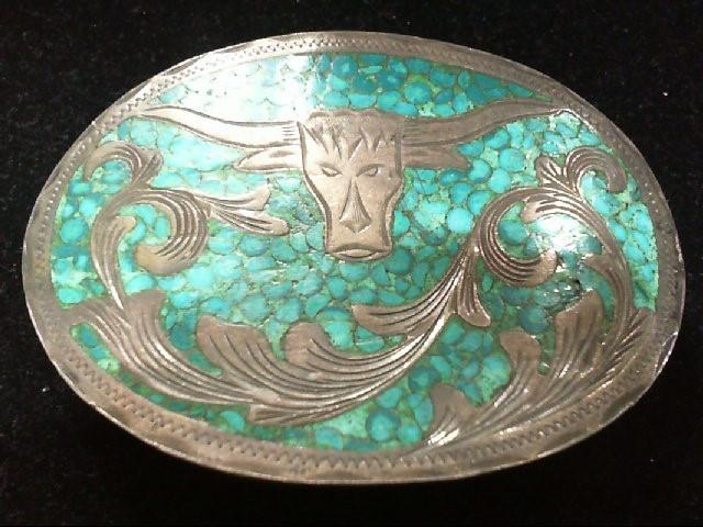Silver Belt Buckle 925 Silver 66.4g