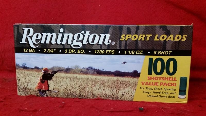 "Remington 12ga - 2-3/4"" Shells - 8 Shot - 100rd Value Pack"