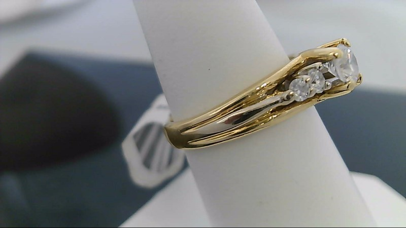 Lady's Diamond Engagement Ring 5 Diamonds .66 Carat T.W. 18K Yellow Gold 6.5g