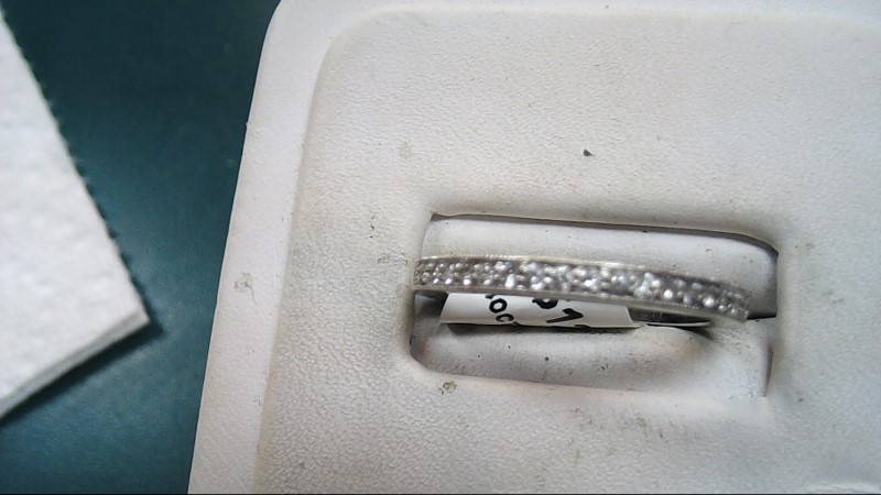 Lady's Diamond Wedding Band 20 Diamonds .40 Carat T.W. 14K White Gold 2.3g