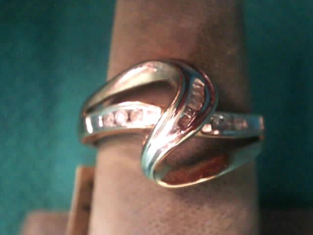Lady's Diamond Fashion Ring 12 Diamonds .12 Carat T.W. 10K Yellow Gold 1.5dwt