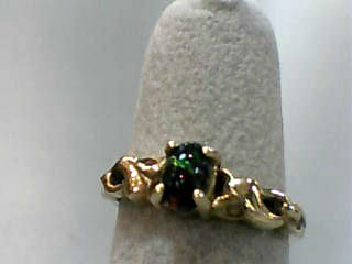 Opal Lady's Stone Ring 10K Yellow Gold 1.5dwt Size:6