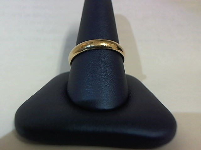 Gent's Gold Wedding Band 10K Yellow Gold 4g Size:10.5