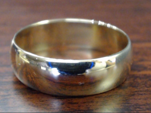 VINTAGE CLASSIC WEDDING RING BAND SOLID REAL 14K GOLD MEN 6MM SIZE 9
