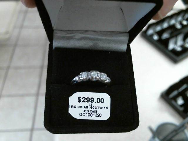 Synthetic Agate Lady's Stone & Diamond Ring 3 Diamonds .30 Carat T.W.