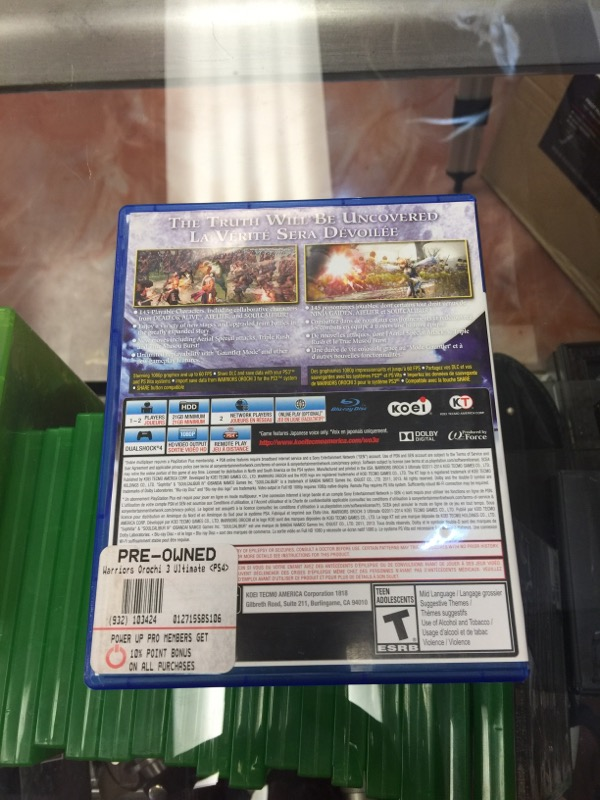 SONY Sony PlayStation 4 WARRIORS OROCHI ULTIMATE