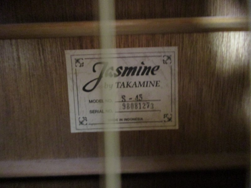 JASMINE BY TAKAMINE S-45 DREADNOUGHT ACOUSTIC GUITAR