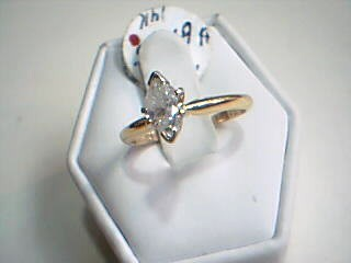 Lady's Diamond Solitaire Ring .63 CT. 14K Yellow Gold 2.5g Size:7