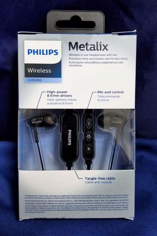 PHILIPS METALIX WIRELESS HEADPHONE SHB5850