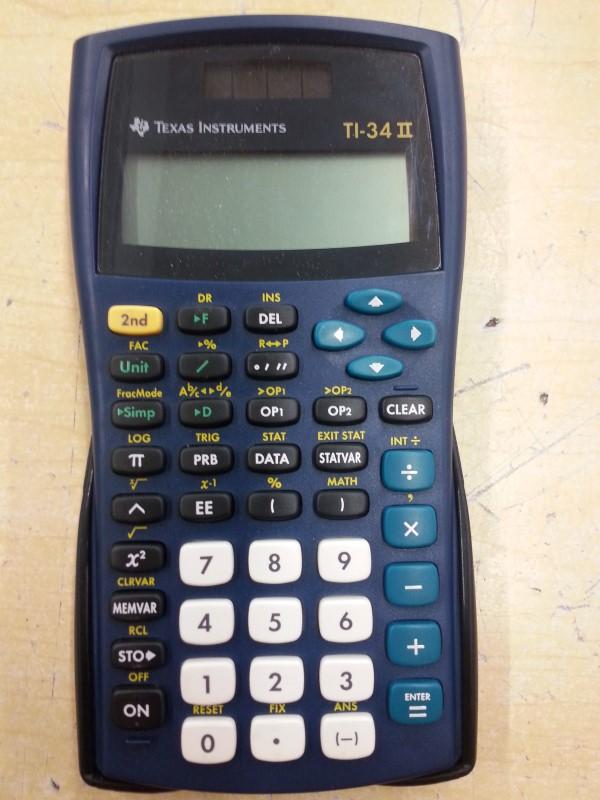 TEXAS INSTRUMENTS Calculator TI-34 II