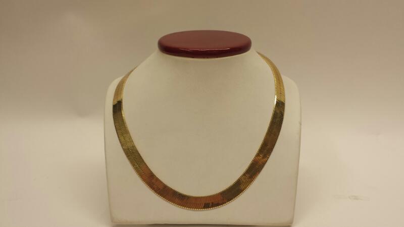 "14k Yellow Gold Herringbone Chain - 26.88dwt - Length 24"""