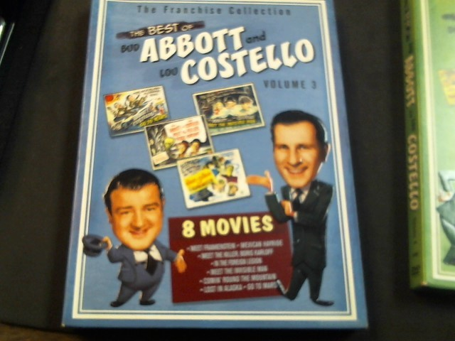 DVD BOX SET DVD THE BEST OF ABBOTT AND COSTELLO VOLUME 3