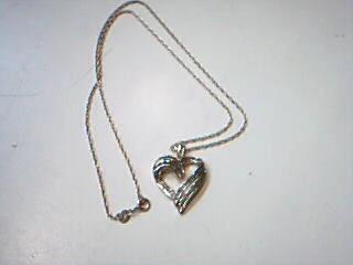 Diamond Necklace 46 Diamonds .46 Carat T.W. 925 Silver 5.4g