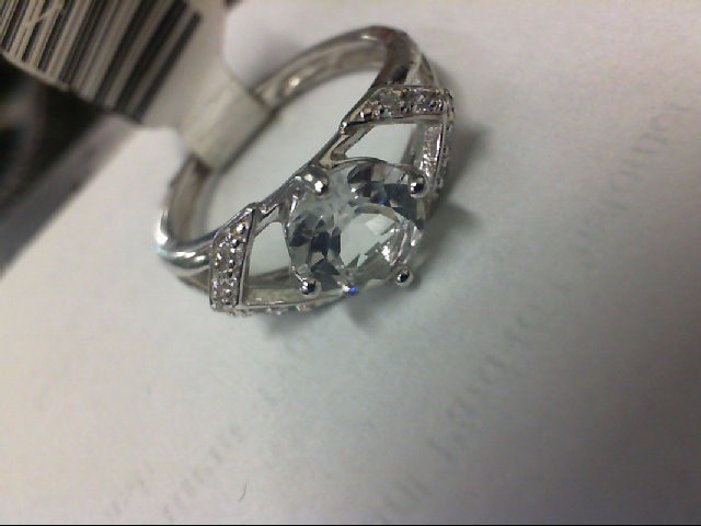 Pink Stone Lady's Silver & Stone Ring 925 Silver 2g