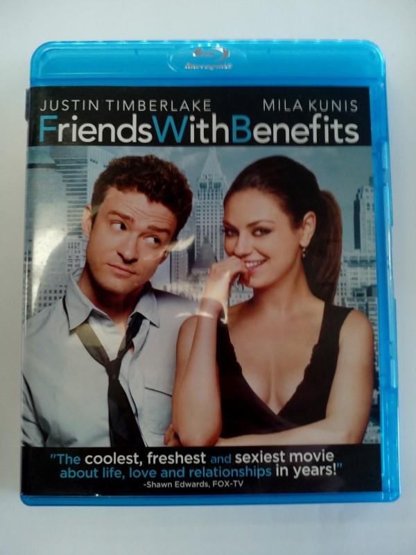 FRIENDS WITH BENEFITS, BLU-RAY MOVIE STARRING JUSTIN TIMBERLAKE