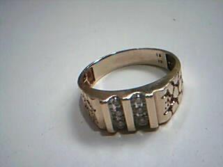 Gent's Diamond Fashion Ring 6 Diamonds .06 Carat T.W. 10K Yellow Gold 3.7g