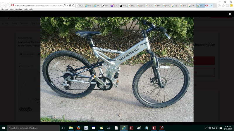 MONGOOSE Mountain Bicycle BLACKCOMB