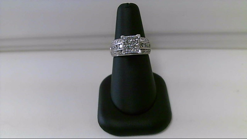 Lady's PRINCESS CUT & ROUND Diamond Wedding Band 1 3/4CTTW 10K White Gold 5.9g