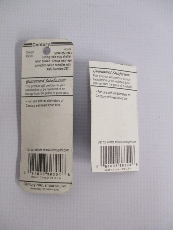 LOT OF 2 CENTURY REPLACEMENT FEED SCREWS