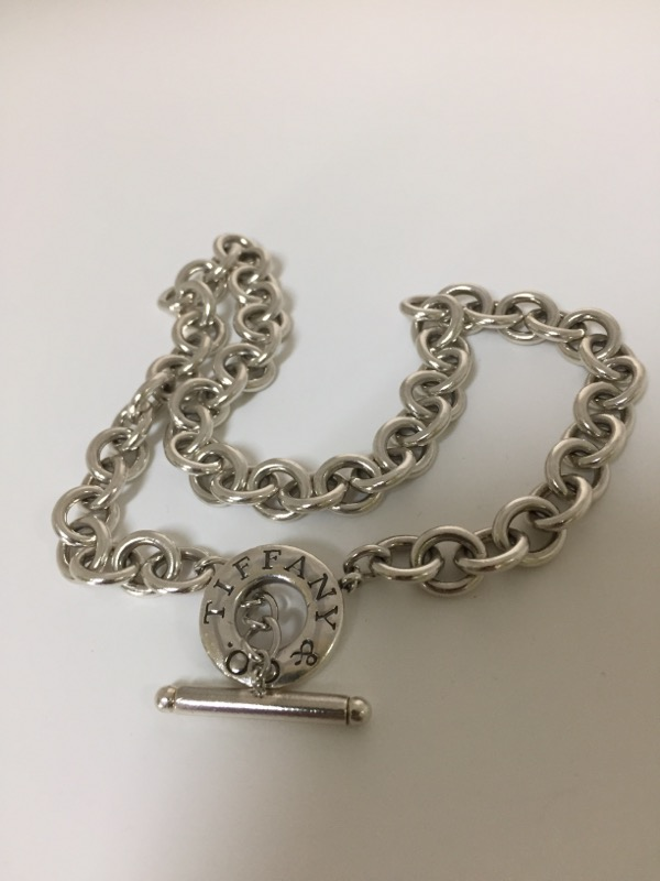 """Tiffany & Co. 16"""" Silver Fashion Chain 925 Silver 44dwt"""
