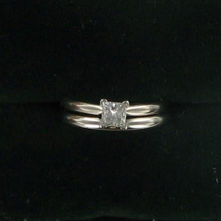 Lady's Diamond Wedding Set .40 CT. 10K White Gold 2.5dwt