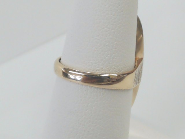 ESTATE OBLONG BLANK ENGRAVEABLE SOLID REAL 10K GOLD RING SIZE 6.75