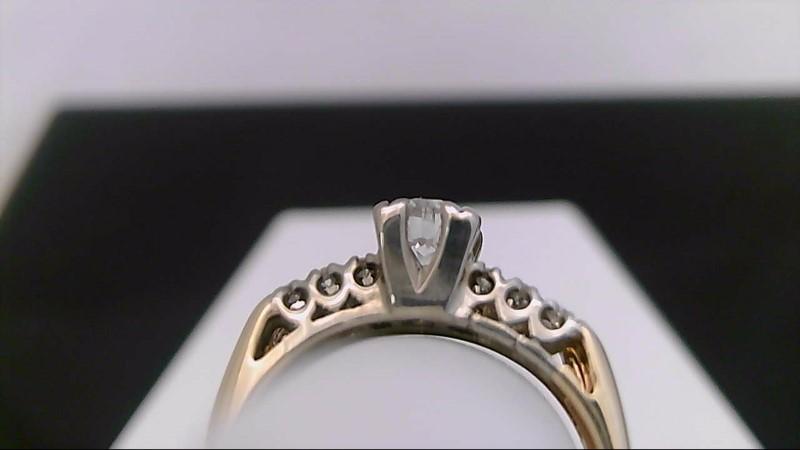 Lady's Diamond Wedding Set 14 Diamonds .63 Carat T.W. 14K Yellow Gold 3.8g