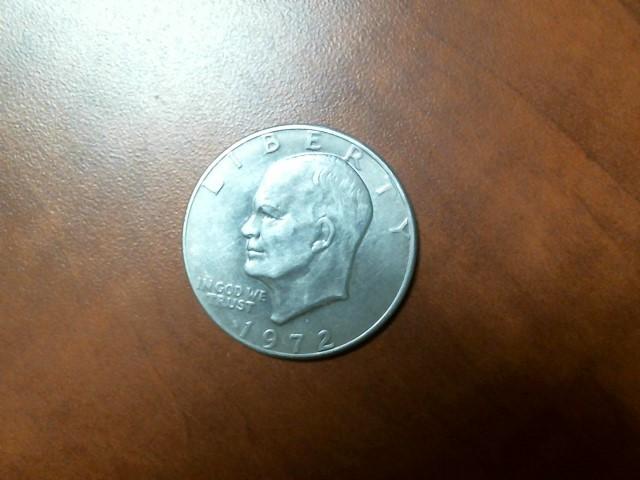 UNITED STATES Silver Coin 1972 EISENHOWER DOLLAR