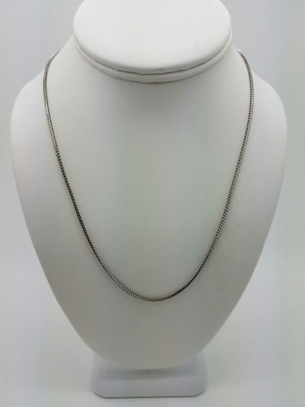 "18"" Gold Chain 10K White Gold 5.4dwt"