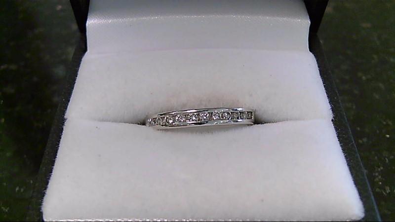 Lady's Diamond Wedding Band 12 Diamonds .24 Carat T.W. 14K White Gold 2.5g