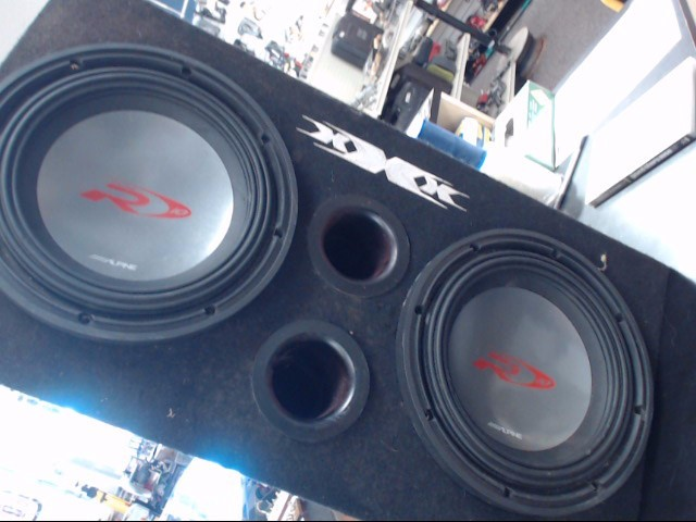 "ALPINE ELECTRONICS Speakers/Subwoofer TYPE R 12"" AND TYPE S 12"" IN BOX"