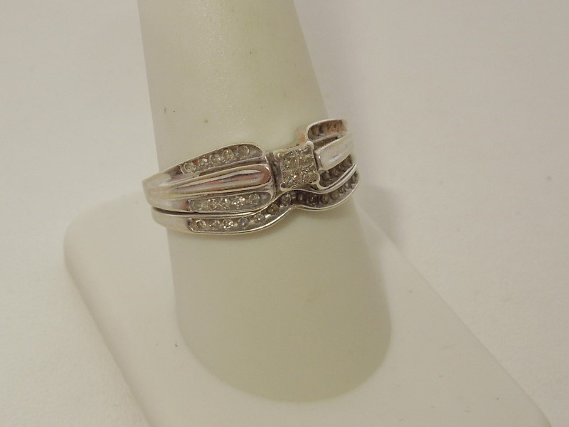 Lady's Diamond Wedding Set 38 Diamonds .46 Carat T.W. 10K White Gold 4.1g