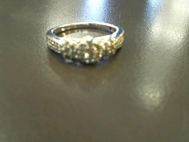 Lady's Diamond Cluster Ring 38 Diamonds .38 Carat T.W. 10K White Gold 2.7g