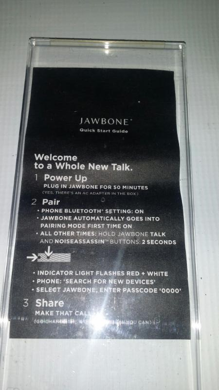 JAWBONE Cell Phone Accessory NOISE ASSASSIN 3.0