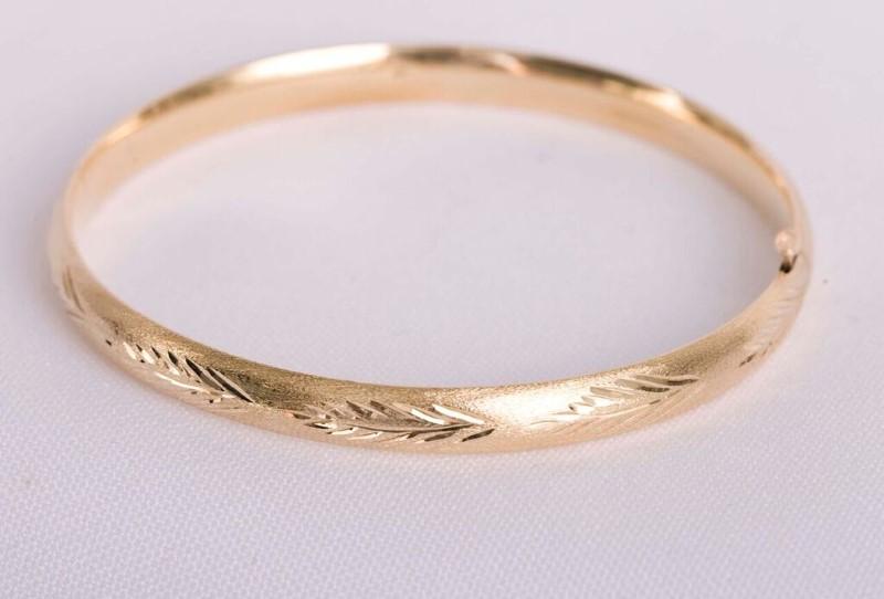 Gold Bracelet 14K Yellow Gold 6.4g SIZE 7.5