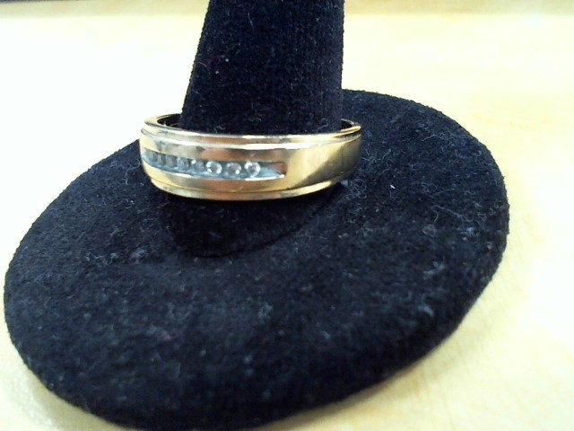 Lady's Diamond Solitaire Ring 8 Diamonds .08 Carat T.W. 10K Yellow Gold 2.5g