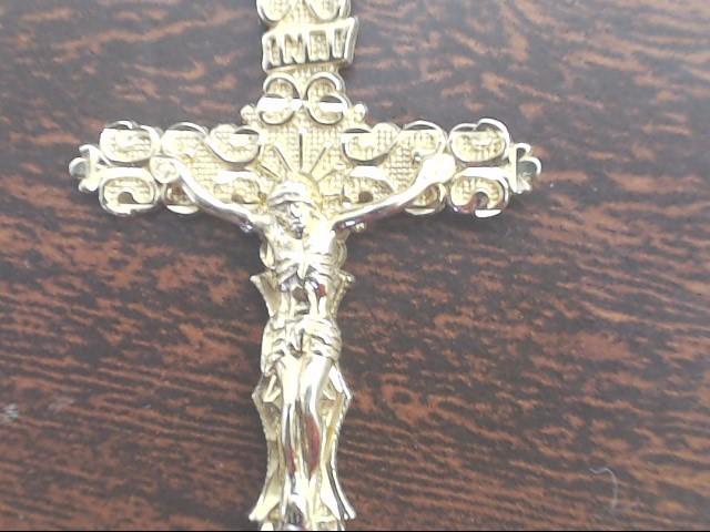 VINTAGE CROSS CRUIFIX PENDANT CHARM SOLID 10K GOLD CATHOLIC CHRIST