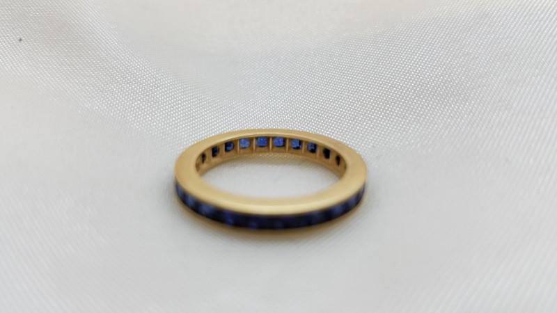 Blue Stone Lady's Stone Ring 14K Yellow Gold 3.4g Size:4.5