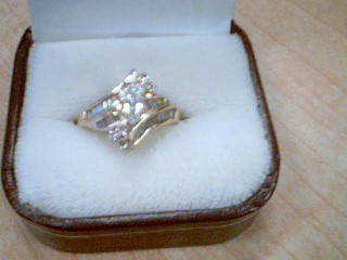 Lady's Diamond Solitaire Ring 37 Diamonds .68 Carat T.W. 14K Yellow Gold 4.5g