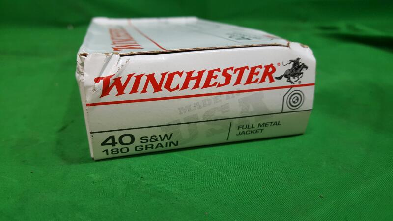 WINCHESTER 40 S&W 180G FMJ 50RDS