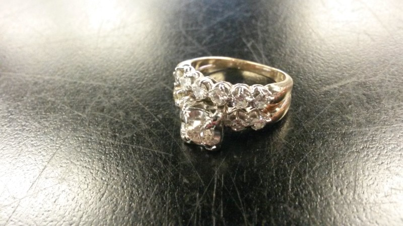 Lady's Diamond Wedding Set 11 Diamonds .73 Carat T.W. 14K 2 Tone Gold 3.7dwt