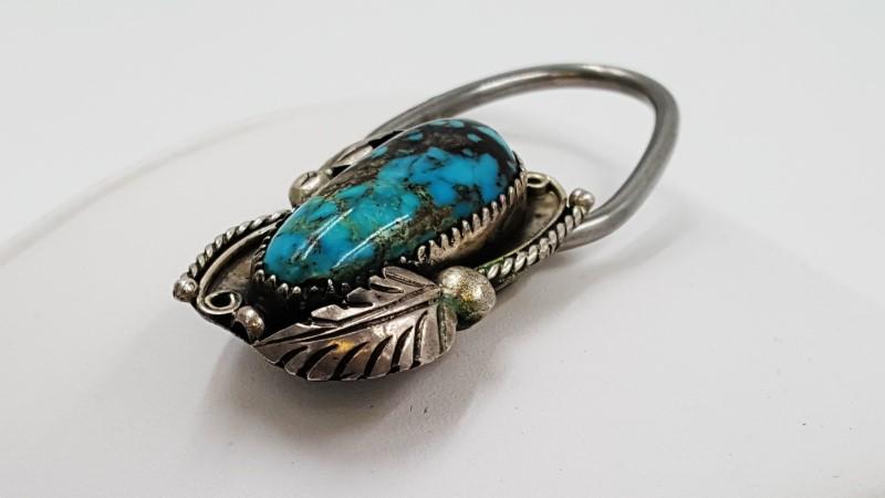 Bennett Navajo Unisex Turquoise & Sterling Silver Pendant